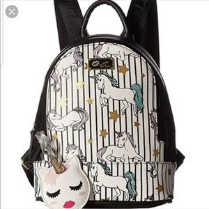 Betsey Johnson small unicorn backpack NWT